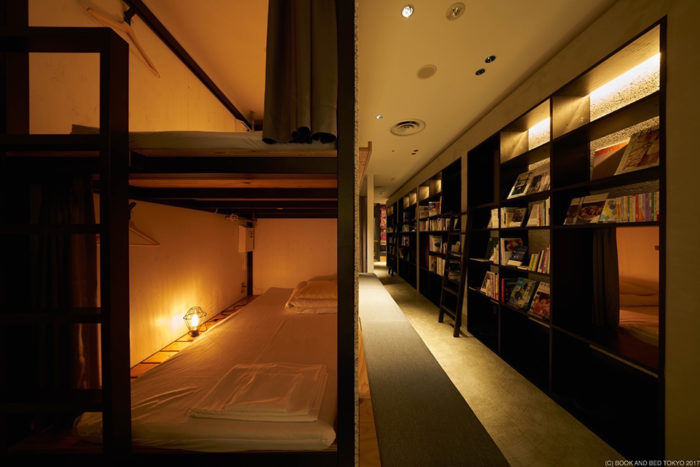 BOOK AND BED TOKYO 書香入夢旅館福岡床位