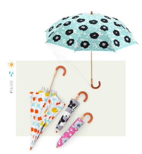 sousou布moonbat傘晴雨二用日傘折傘折疊傘