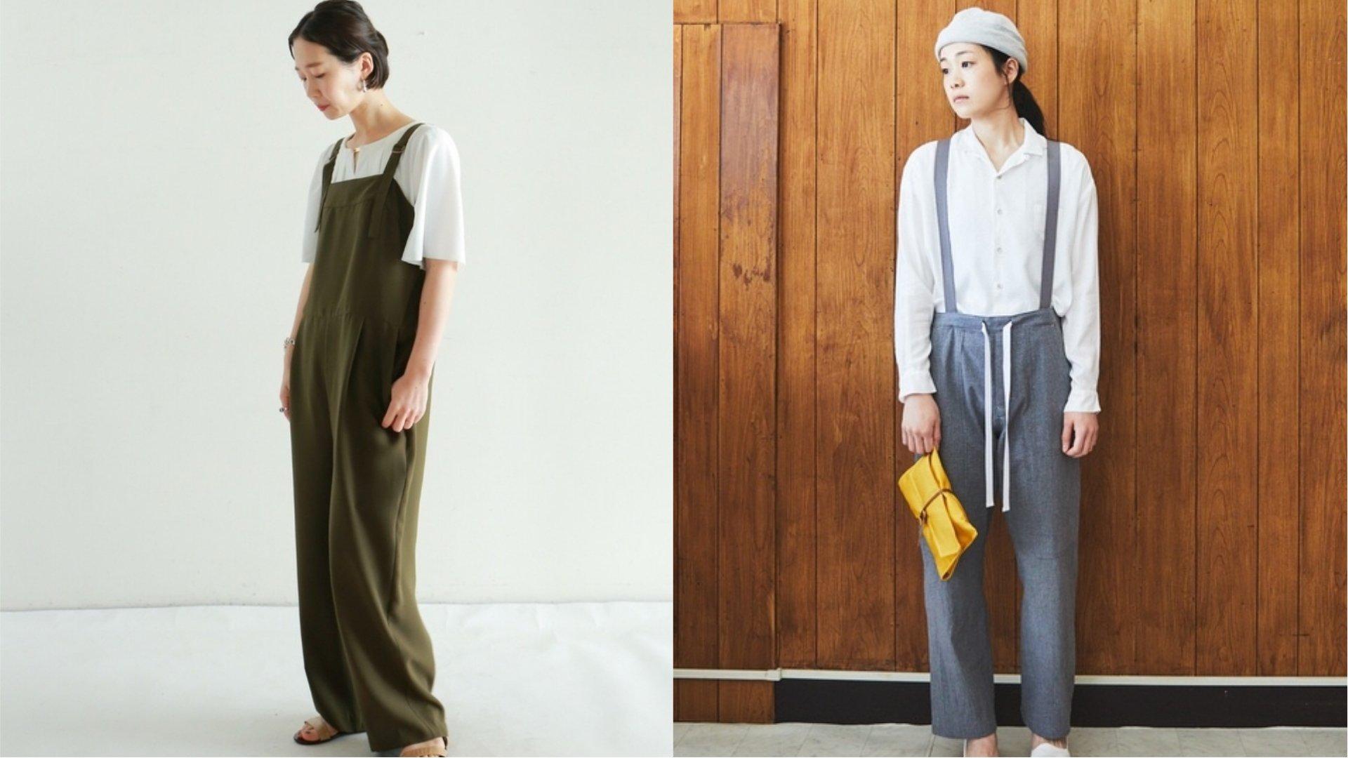 中性風格女生這樣穿!日本女生不能少的吊帶褲穿搭