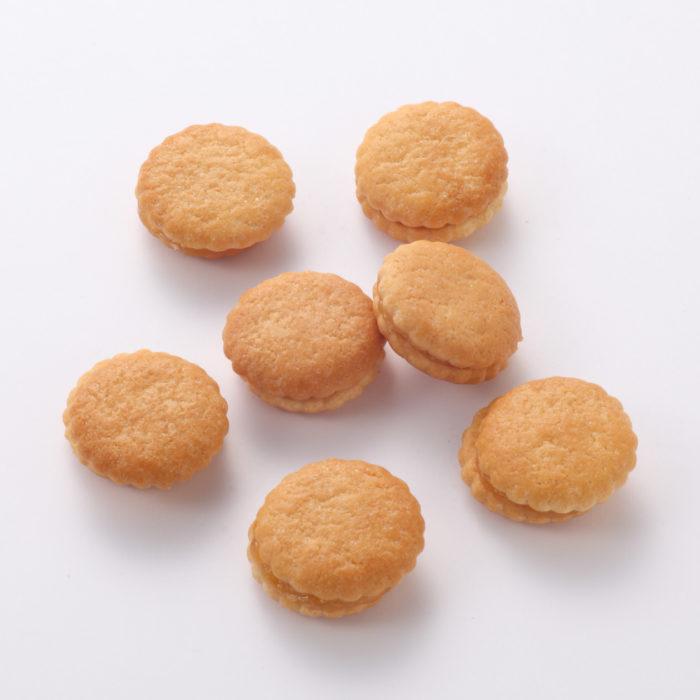 無印良品杏桃果醬夾心餅乾特寫