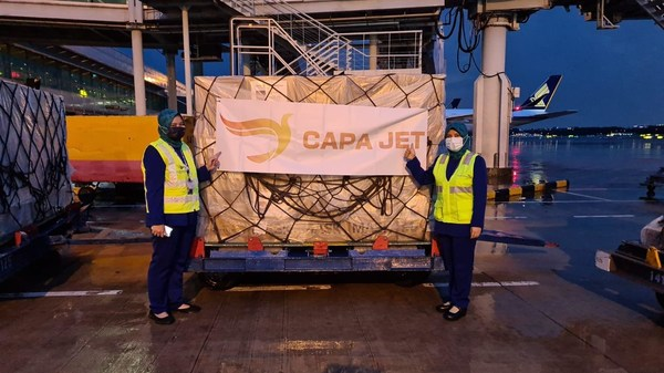 CapaJet在地勤人員協助下捐贈口罩,履行企業社會責任