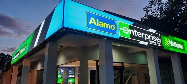 在菲律賓宿霧的三個品牌 Enterprise Rent-A-Car、Alamo Rent A Car 與 National Car Rental 分店,是公司對亞太區持續投資的其中一部分