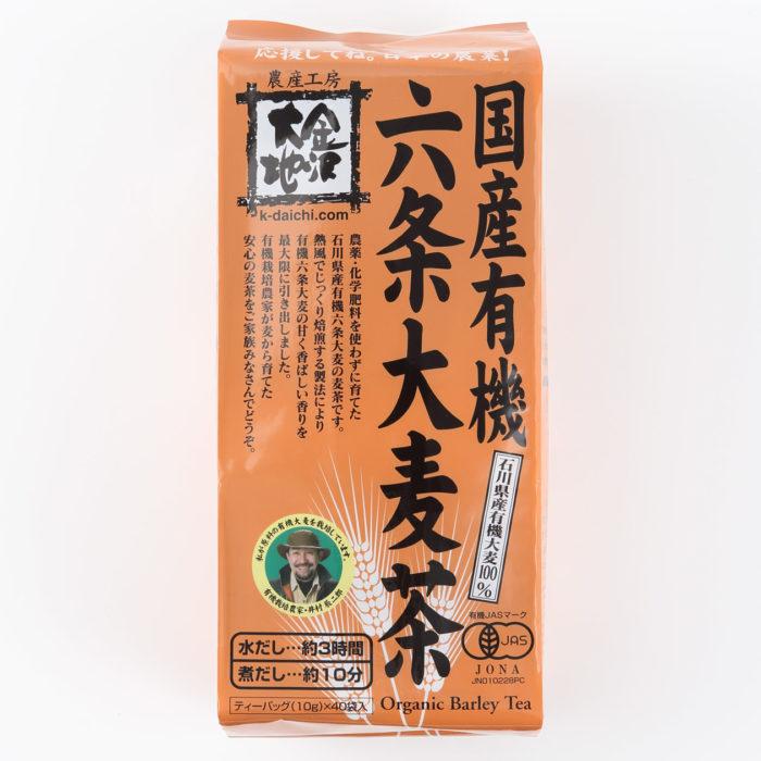 無印良品石川縣金澤市日産有機六條大麥茶包裝