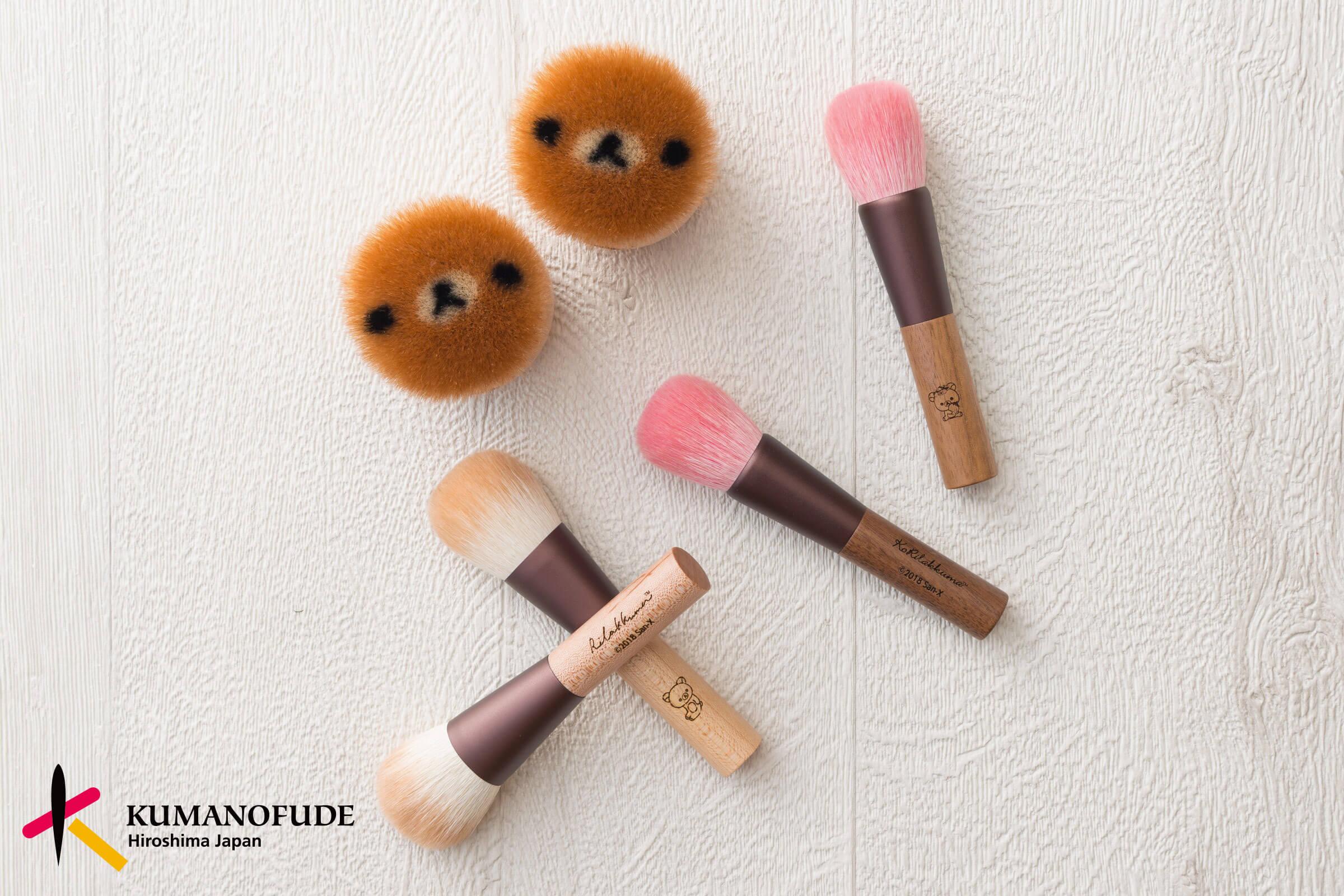 在廣島職人的傳統技法下誕生的刷具「熊野筆」化身「拉拉熊熊野筆」登場 奶油熊、拉拉熊、
