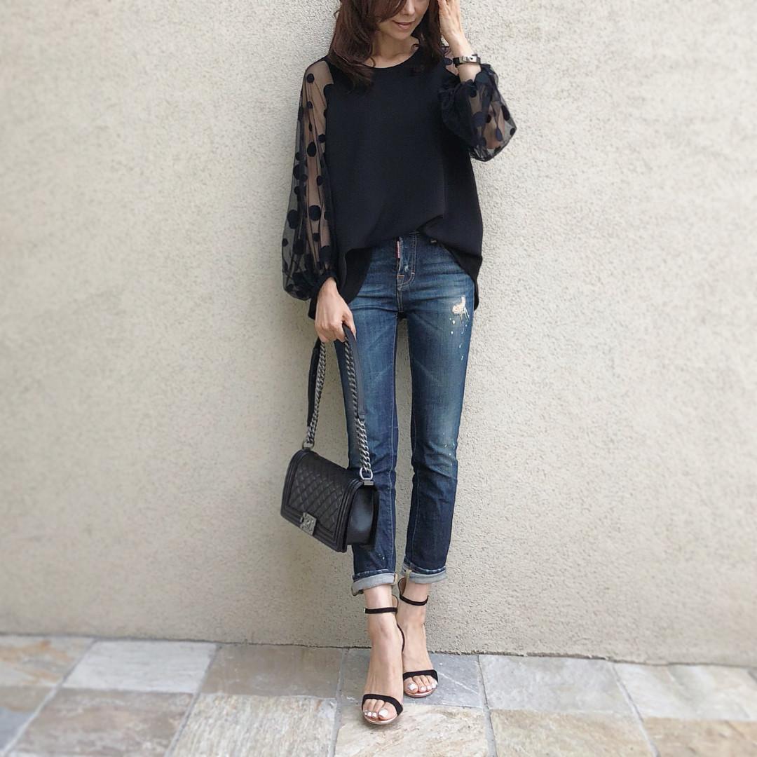 襯衣穿搭×涼鞋,打造出成熟大人的夏季造型 出處:akko3839