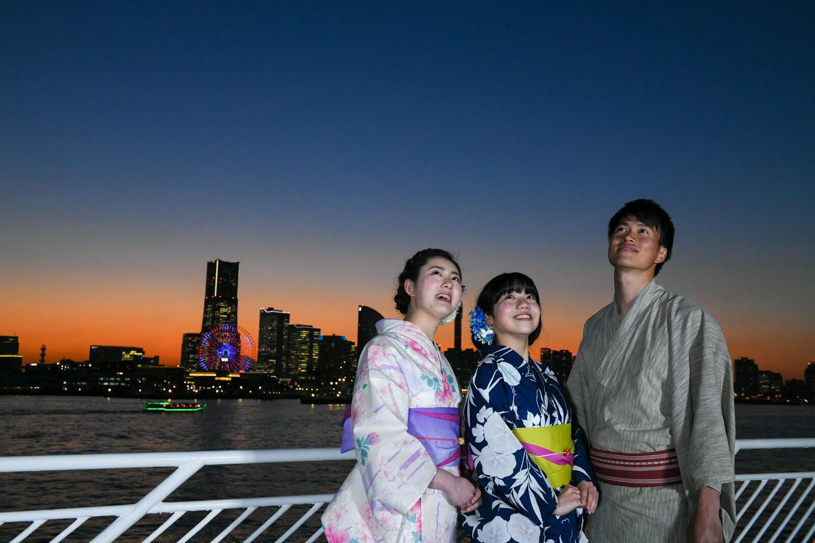穿上浴衣在橫濱乘船夜遊!「橫濱浴衣 DE Marine Rouge 2018」 和服、在橫濱、