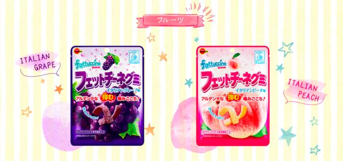 北日本fettuccine軟糖葡萄水蜜桃口味