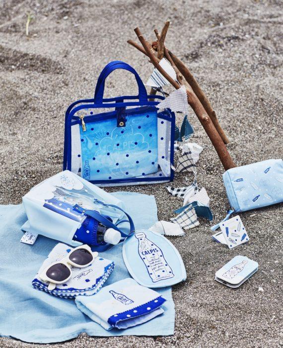 可爾必思 x Afternoon tea 聯名商品 毛巾、化妝包、摺疊鏡子