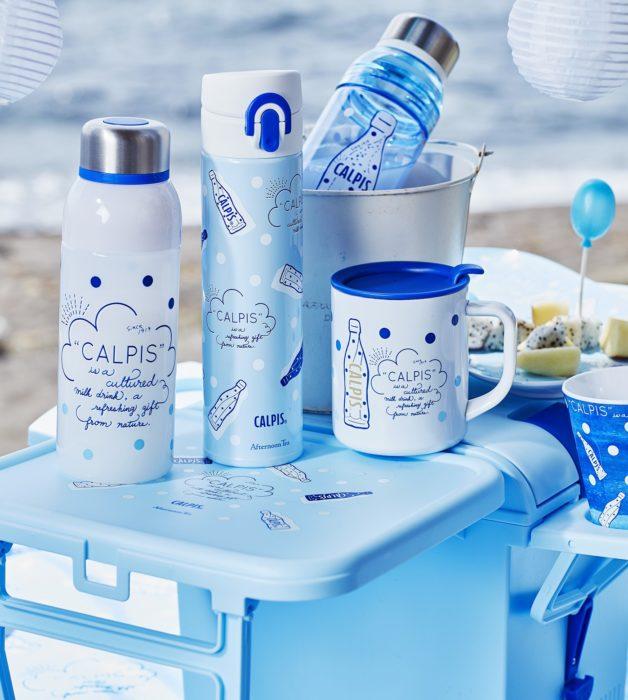 可爾必思 x Afternoon tea 聯名商品 保溫壺、水壺、保溫杯、水杯、組合餐桌