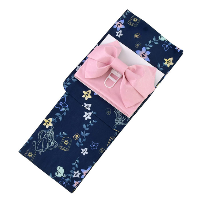 日本迪士尼網路商店浴衣特輯公主系列浴衣長髮公主深藍色桔梗浴衣
