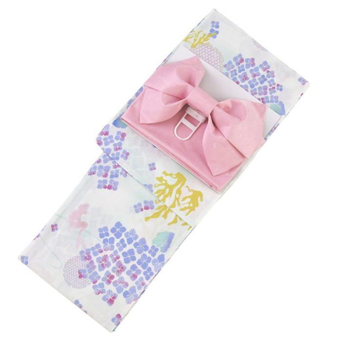 日本迪士尼網路商店浴衣特輯公主系列浴衣小美人魚白色紫陽花繡球花浴衣