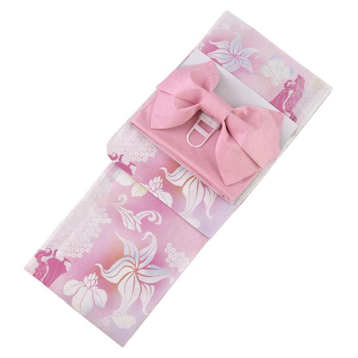 日本迪士尼網路商店浴衣特輯公主系列浴衣長髮公主粉色菖蒲浴衣