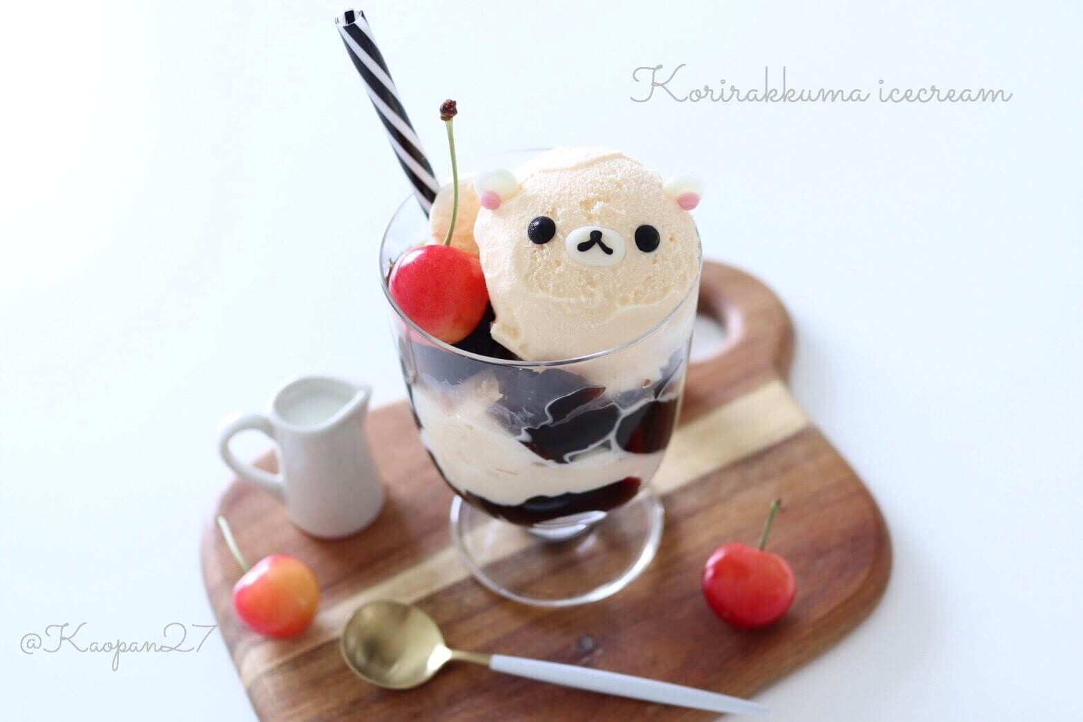 """超簡單的""""角色甜點""""食譜介紹!""""奶油熊咖啡凍百匯"""" 奶油熊、甜點、食譜、"""