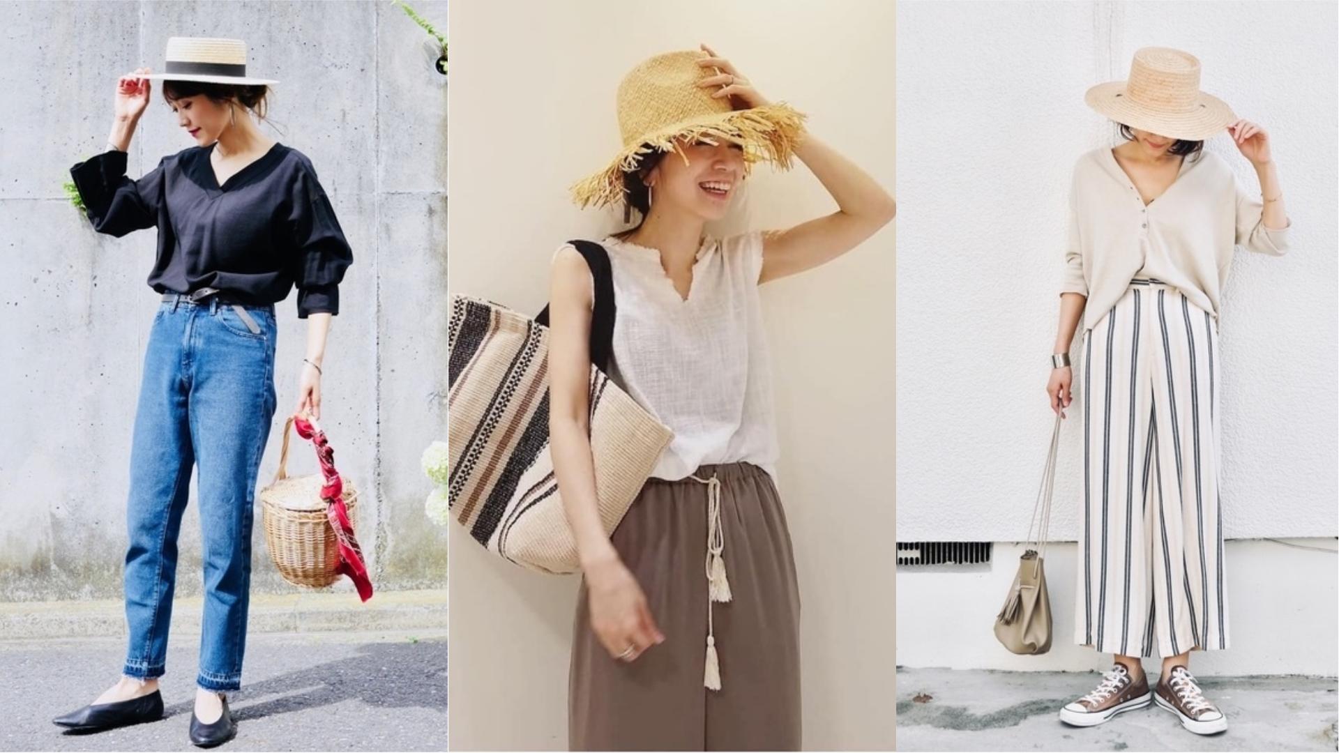 今夏帽款選這頂!看日本女生利用編織帽完成時髦穿搭