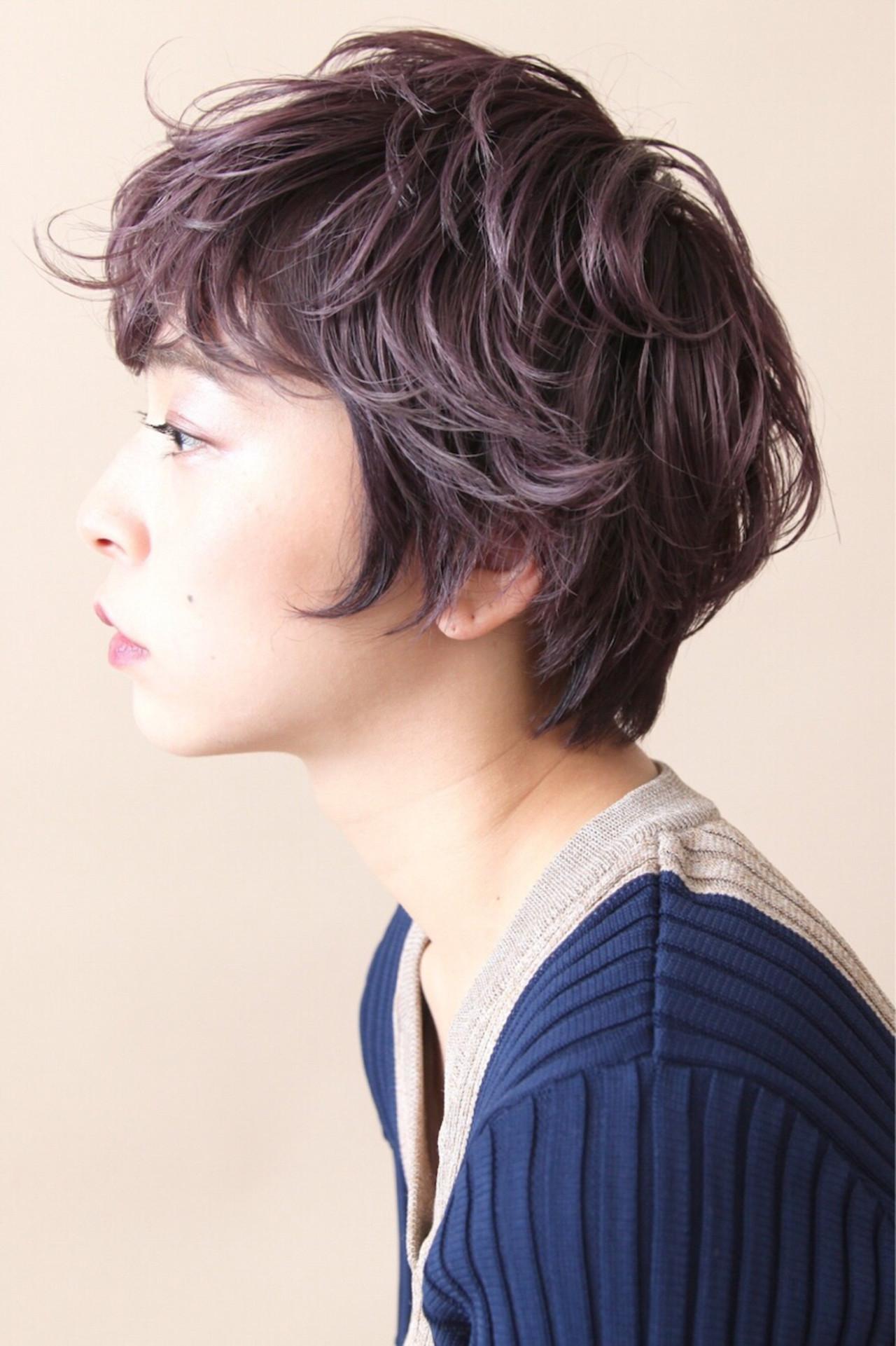 短髮可以染成薰衣草粉紅色