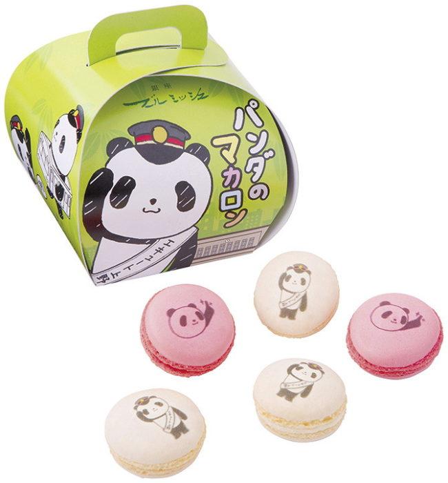 boulmich上野限定熊貓造型馬卡龍