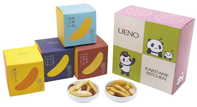 上野限定柿種廚房熊貓造型禮物盒