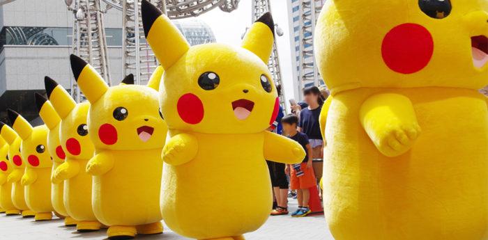 日本橫濱2018皮卡丘大量出現遊行活動寶可夢皮卡丘大遊行