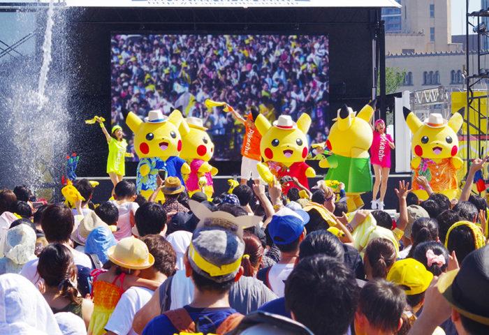日本橫濱2018皮卡丘大量出現遊行活動寶可夢皮卡丘舞台表演