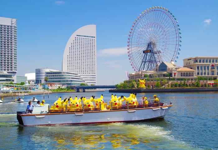 日本橫濱2018皮卡丘大量出現遊行活動寶可夢皮卡丘船上表演