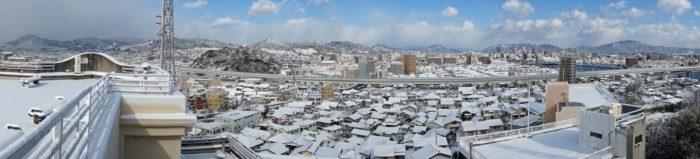 江波氣象館雪景