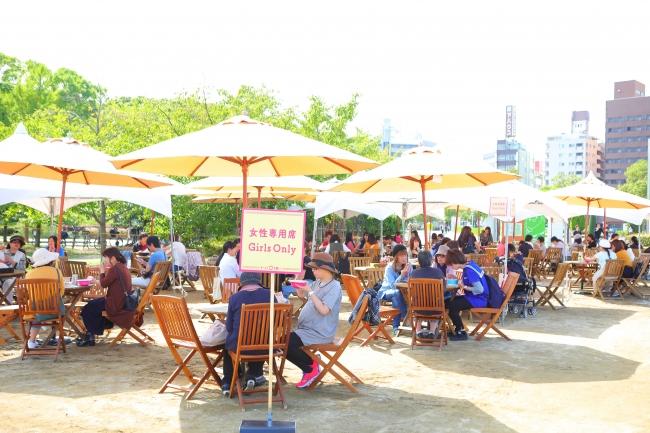 拉麵女子博 in 大阪2018長居公園女子專用座位區