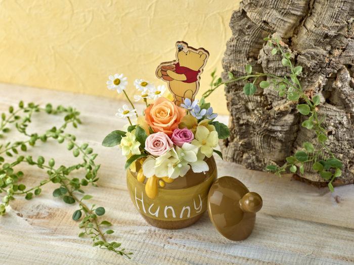 日比谷花壇小熊維尼蜂蜜罐插花