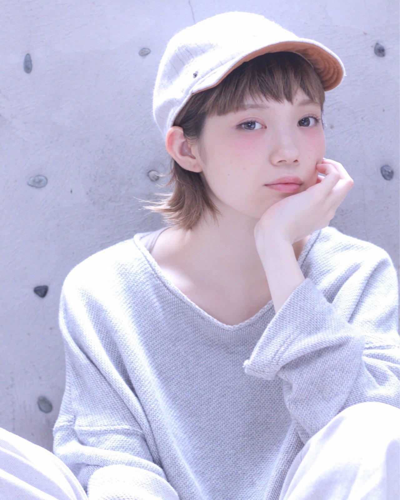 短髮×帽子