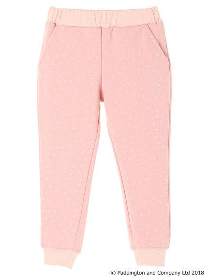 粉色印花內搭長褲
