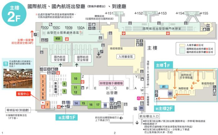 成田空港第三航廈2樓樓層簡介