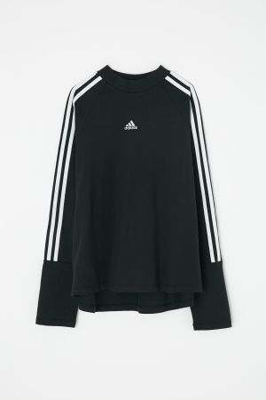 adidas&moussy共同開發聯名商品第四彈長袖運動衫黑色 long sleeve tshirt black