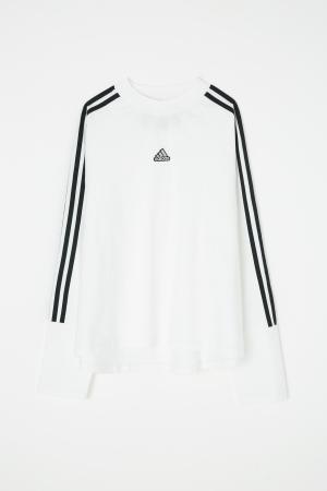 adidas&moussy共同開發聯名商品第四彈長袖運動衫白色 long sleeve tshirt white