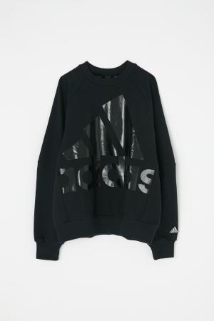 adidas&moussy共同開發聯名商品第四彈長袖外衣黑色 sweat black
