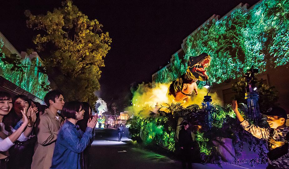 夜間奇觀遊行-侏羅紀公園
