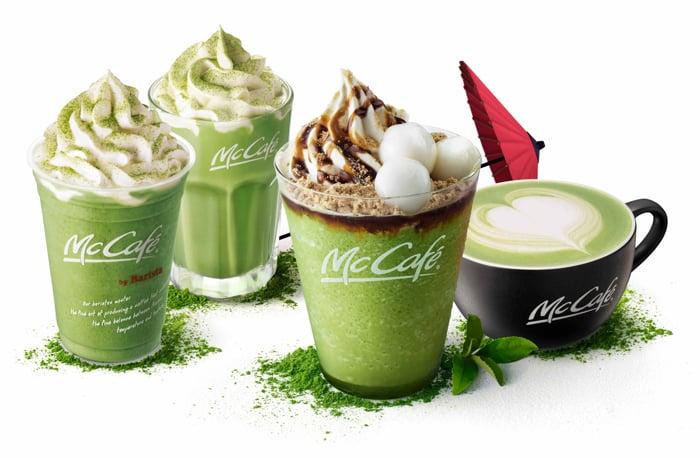 日本麥當勞推出期間限定抹茶拿鐵和冰沙等4款商品發售 抹茶_、麥當勞、
