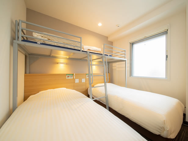 superhotel札幌susukino三人房