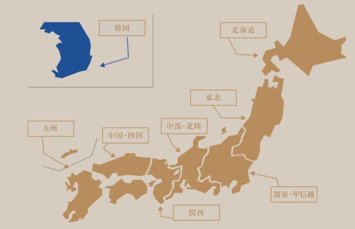 dormy inn全日本分布圖