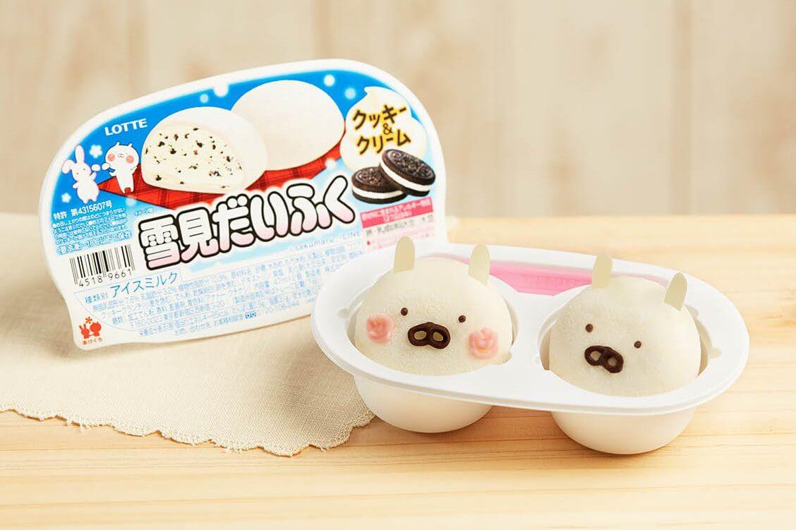 與LINE角色「Usamaru兔丸」合作的「雪見大福餅乾&奶油」於日本全國開賣 Usamaru兔丸、甜點、