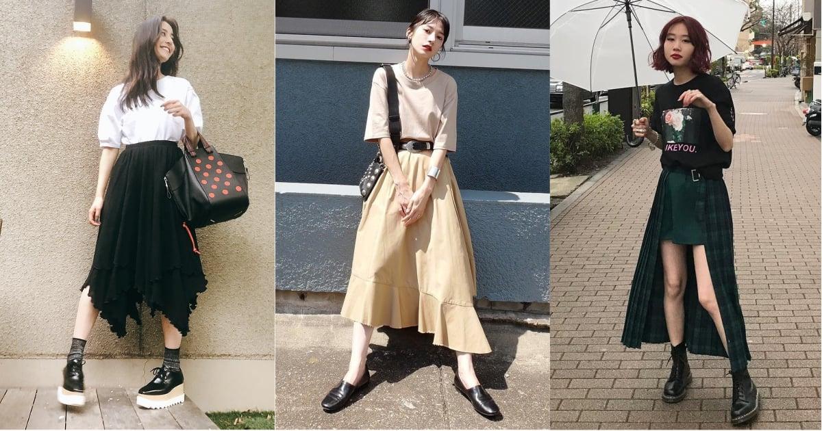 初秋的季節裙裝提案,換上不規則造型長裙打造個性風采