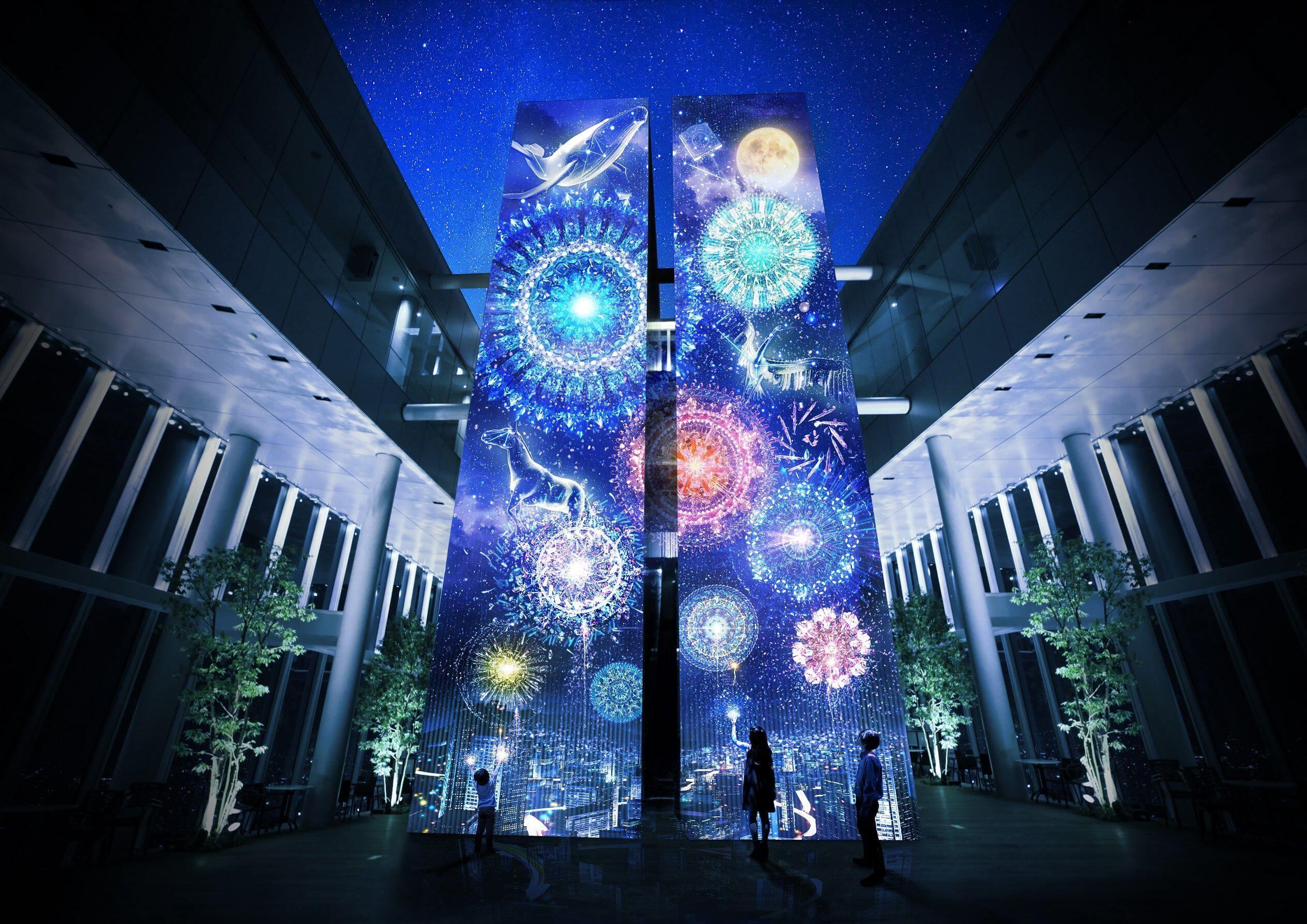 大阪・阿倍野HARUKAS將舉辦光雕投影活動「天空花火‐FIREWORKS BY NAKED‐」 在大阪、花火大會、