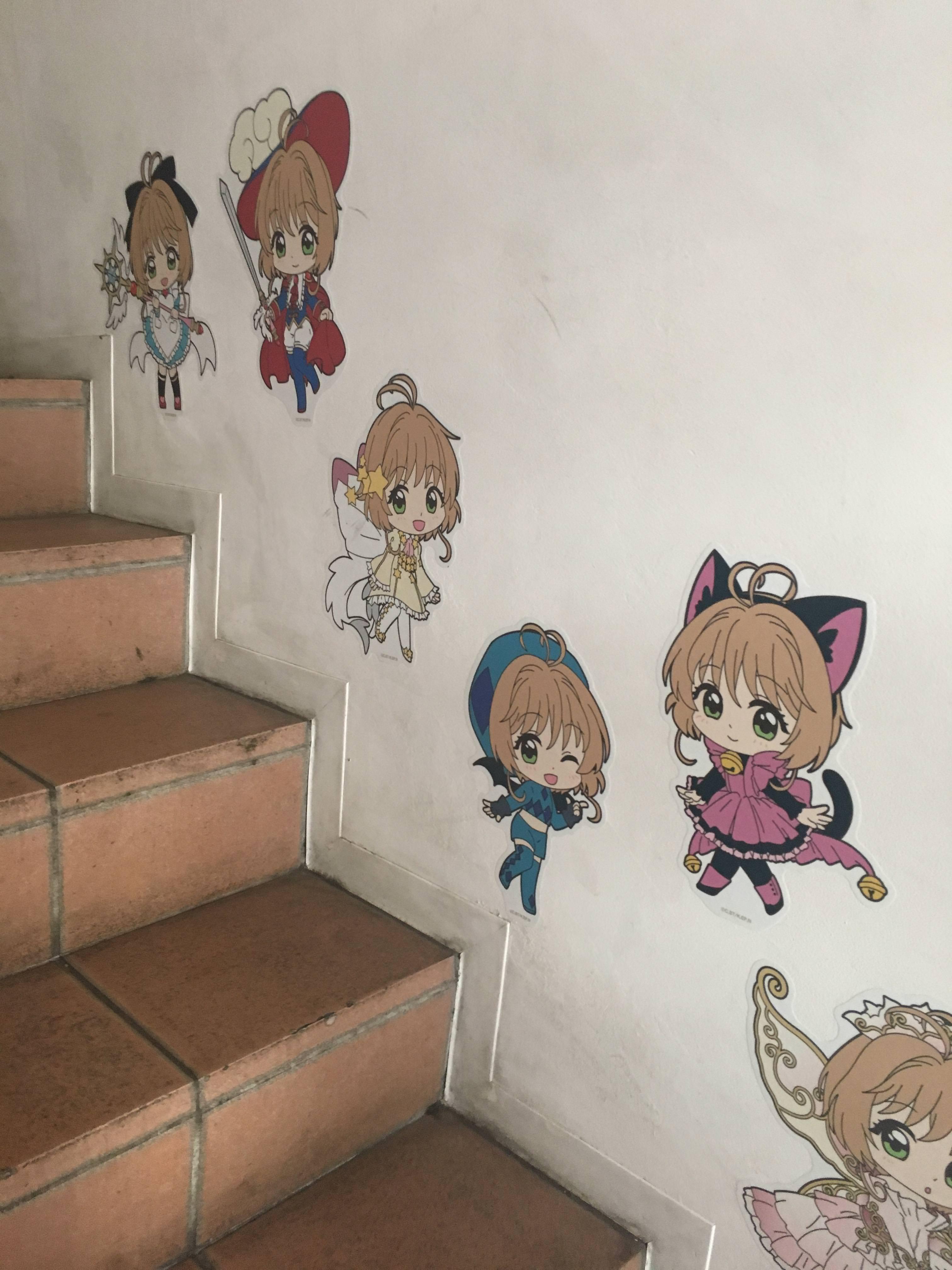 樓梯間可愛裝飾