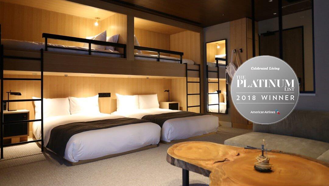 TRUNK(HOTEL),被美國航空機上雜誌Celebrated Living選為最佳精品酒店 住宿、