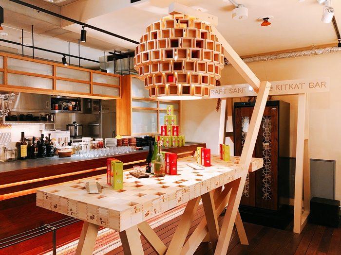 KITKAT BAR日本傳統酒器「枡」所打造的吧台