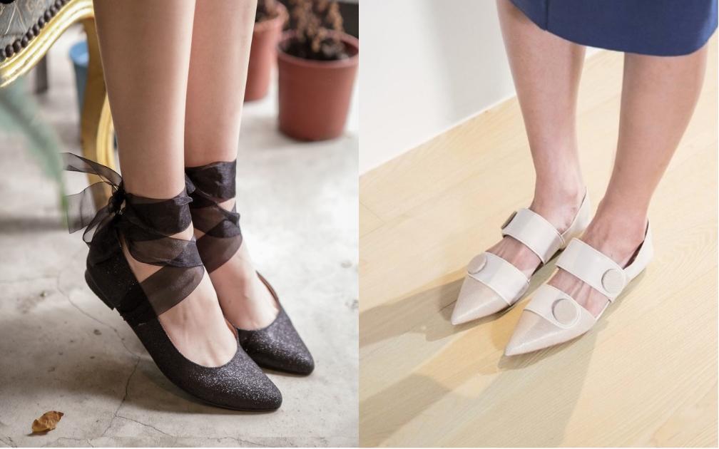 編輯秋日嚴選|以明暗色調為題,4雙展現清雅女人味的平底鞋履