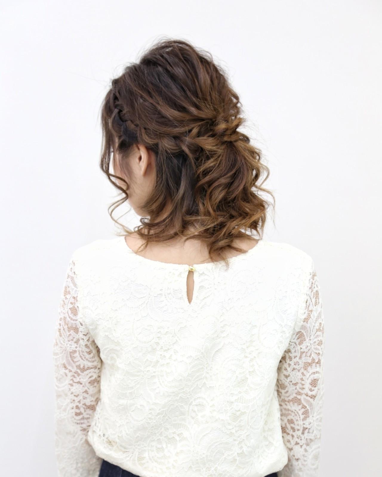 編髮×公主頭,營造華麗風格
