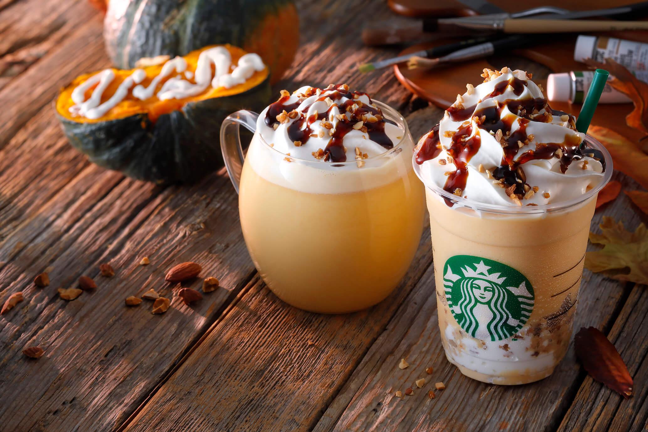 """享受秋季風味的""""Artful Autumn @ Starbucks®""""系列 南瓜星冰樂登場 星巴克、"""