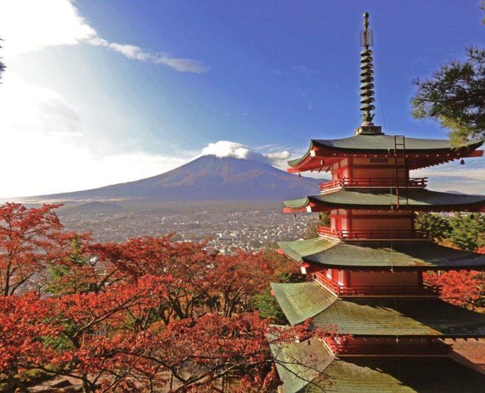 新倉山淺間公園與富士山