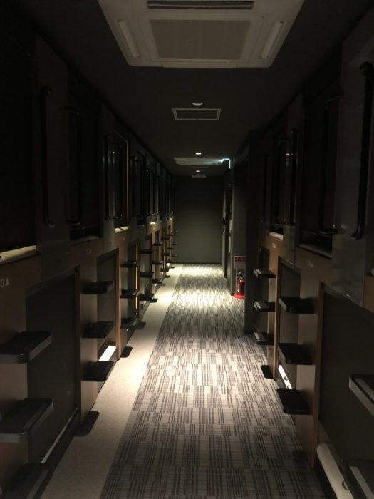 smart stay SHIZUKU京都駅前 kyoto ekimae 雫井膠囊旅館房間內