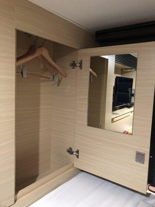 smart stay SHIZUKU京都駅前 kyoto ekimae 雫井膠囊旅館衣櫃