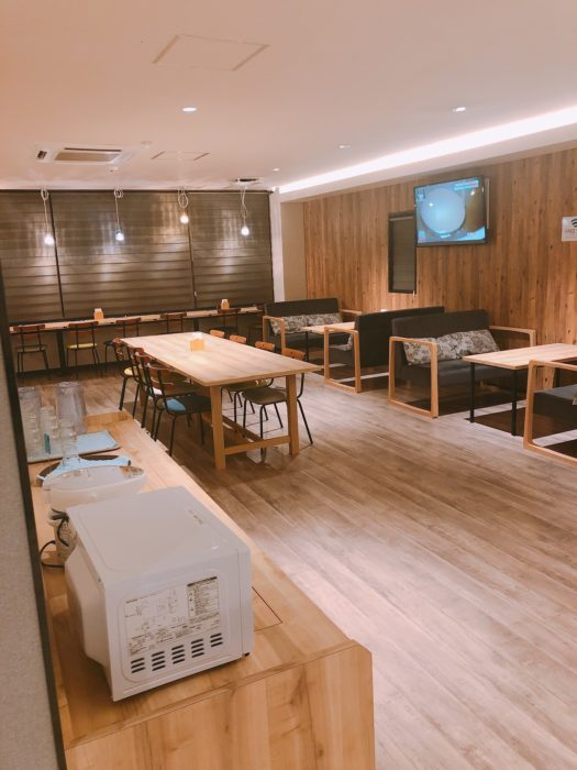 smart stay SHIZUKU京都駅前 kyoto ekimae 雫井膠囊旅館用餐區